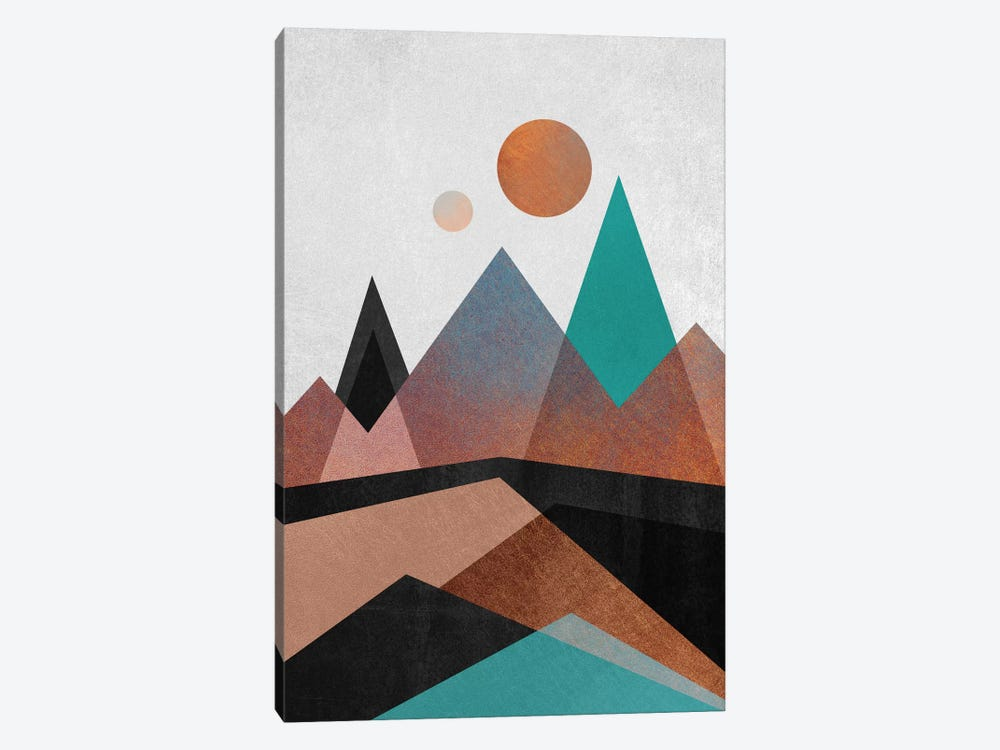 Copper Mountains by Elisabeth Fredriksson 1-piece Canvas Wall Art