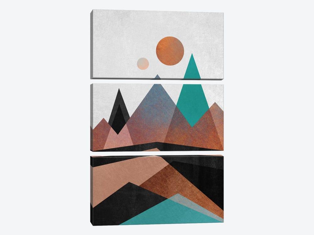 Copper Mountains by Elisabeth Fredriksson 3-piece Canvas Art