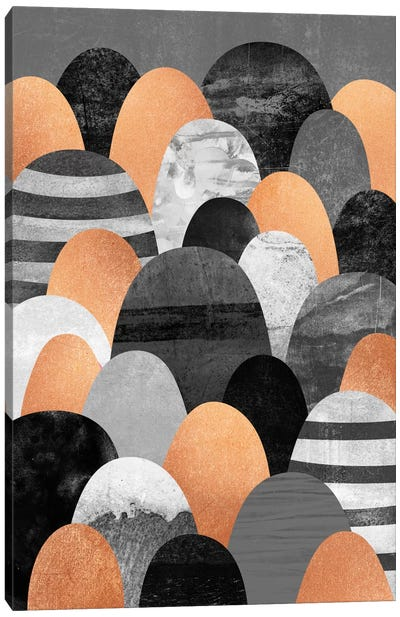 Copper Rocks Canvas Art Print