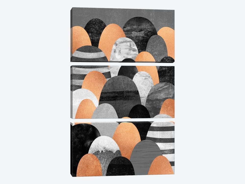 Copper Rocks by Elisabeth Fredriksson 3-piece Art Print