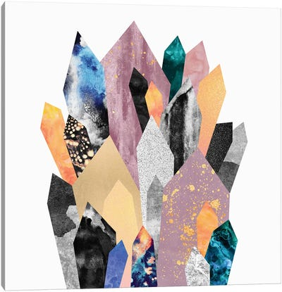 Crystals Canvas Art Print