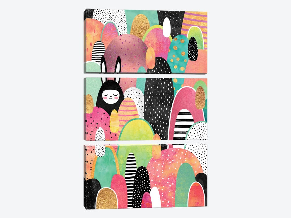 Deep In The Forest by Elisabeth Fredriksson 3-piece Canvas Print