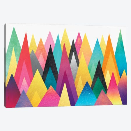Dreamy Peaks Canvas Print #ELF37} by Elisabeth Fredriksson Canvas Print