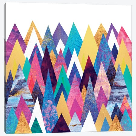 Enchanted Mountains Canvas Print #ELF38} by Elisabeth Fredriksson Canvas Art