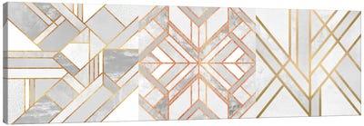 Gold Marble Art Triptych Canvas Print #ELF3HSET002
