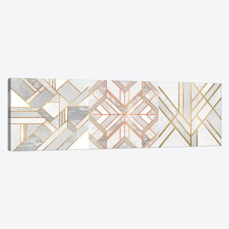 Gold Marble Art Triptych Canvas Print Set #ELF3HSET002} by Elisabeth Fredriksson Canvas Print