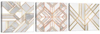 Gold Marble Art Triptych Canvas Art Print