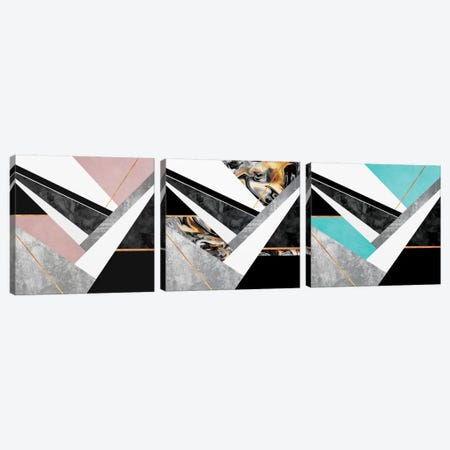 Lines and Layers Triptych Canvas Print Set #ELF3HSET005} by Elisabeth Fredriksson Canvas Art