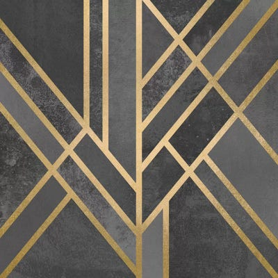 Art Deco Geometry I Canvas Wall Art by Elisabeth ...