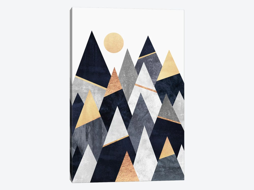 Fancy Mountains by Elisabeth Fredriksson 1-piece Canvas Art Print