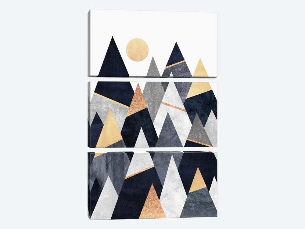 Fancy Mountains by Elisabeth Fredriksson 3-piece Canvas Print