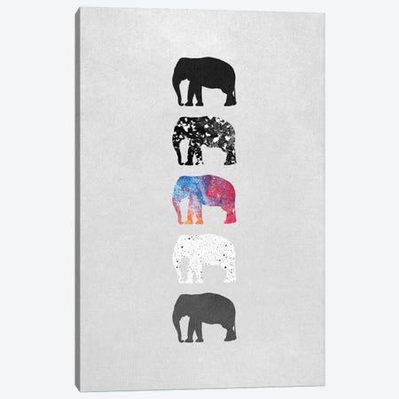 Five Elephants Canvas Print #ELF43} by Elisabeth Fredriksson Canvas Art Print
