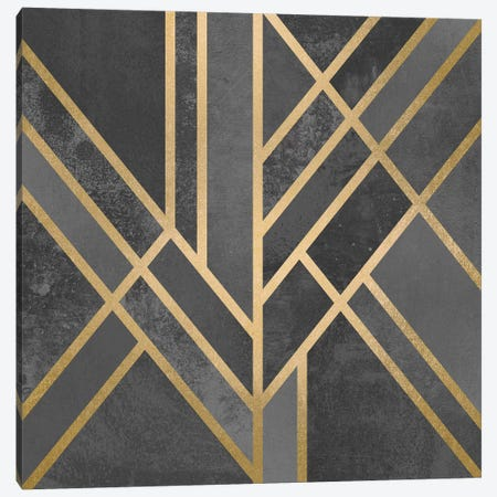 Art Deco Geometry I Canvas Print #ELF4} by Elisabeth Fredriksson Canvas Art