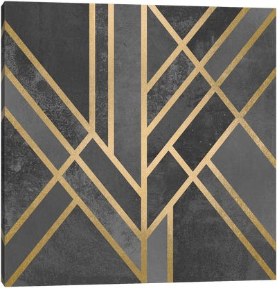 Art Deco Geometry I Canvas Print #ELF4