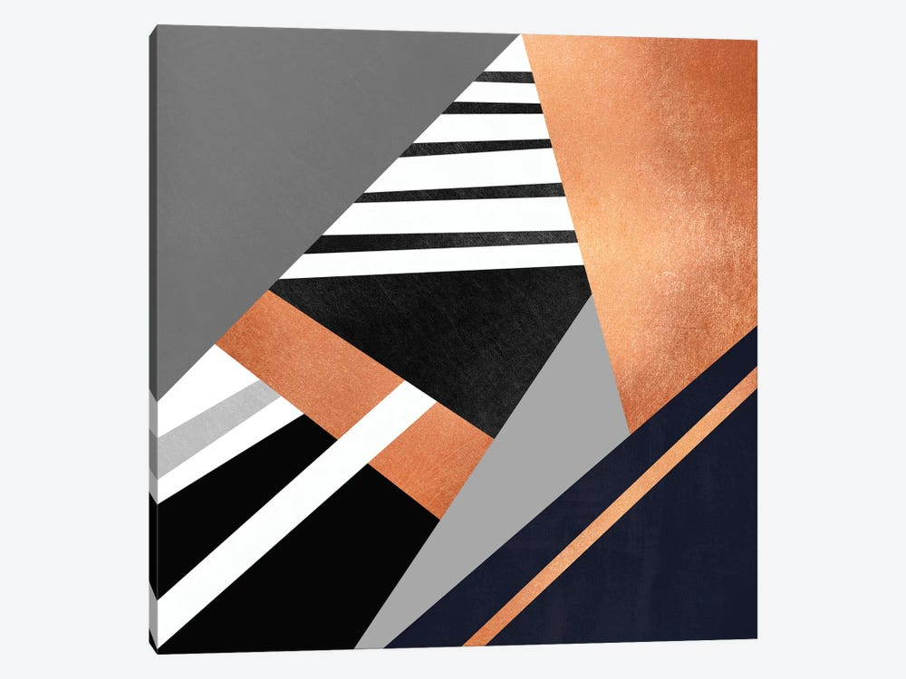 Geometric Combination II by Elisabeth Fredriksson 1-piece Canvas Wall Art
