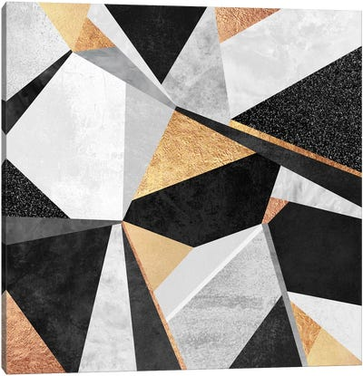Geometry Gold Canvas Art Print