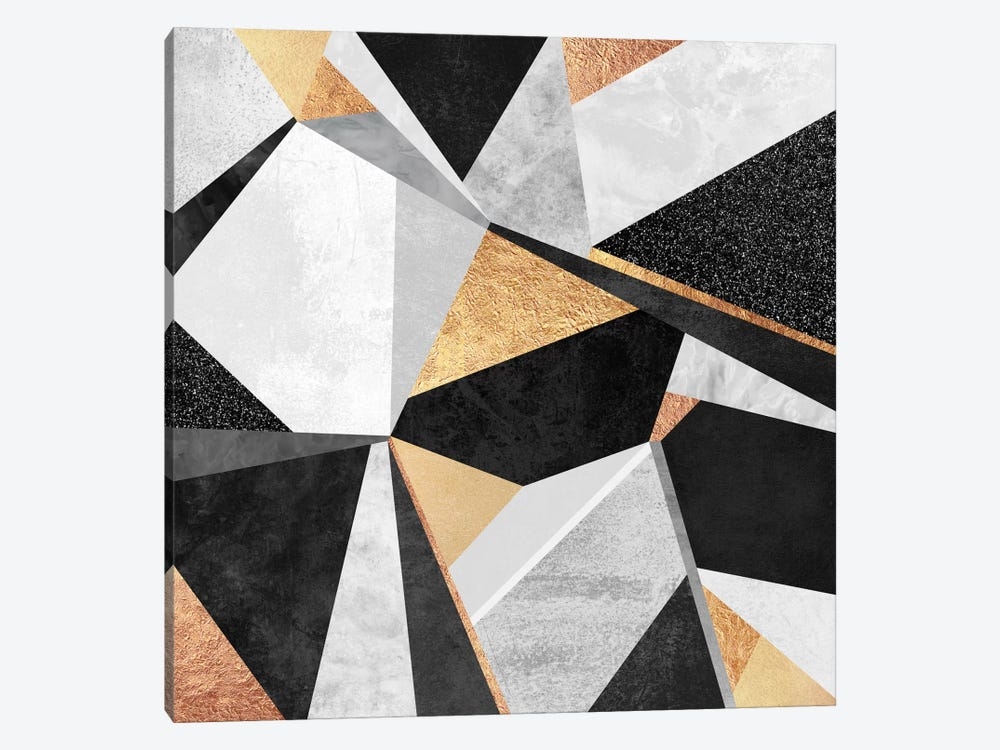 Geometry Gold by Elisabeth Fredriksson 1-piece Art Print