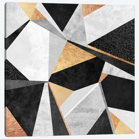 Geometry Gold Canvas Print #ELF51} by Elisabeth Fredriksson Canvas Art