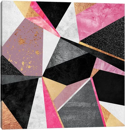Geometry Pink Canvas Art Print