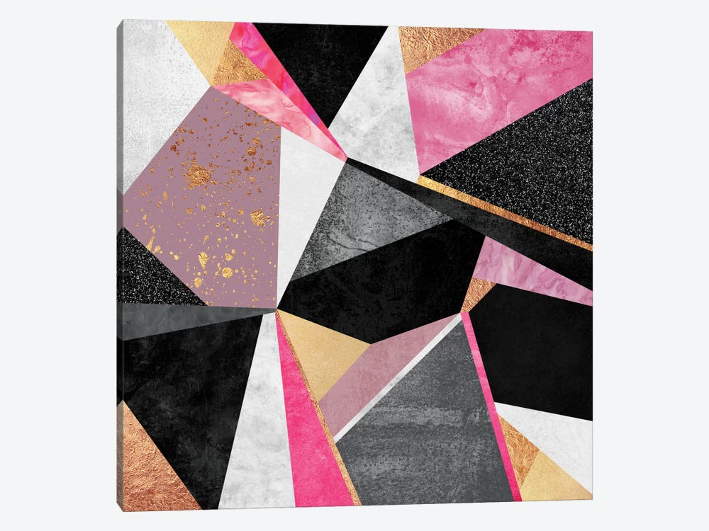 Geometry Pink 1-piece Canvas Wall Art