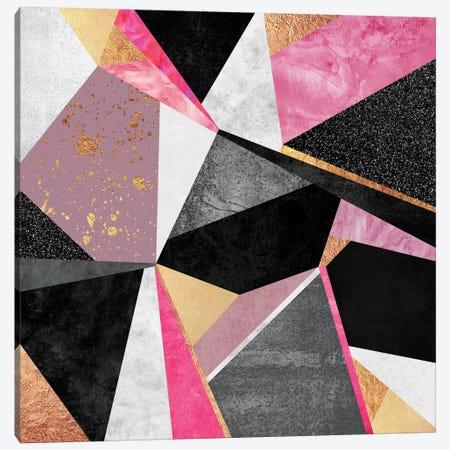 Geometry Pink Canvas Print #ELF52} by Elisabeth Fredriksson Canvas Wall Art