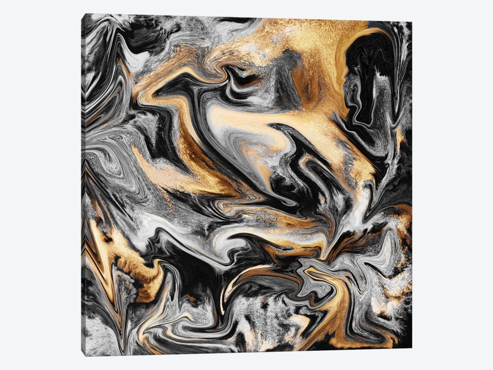 Gold Veins by Elisabeth Fredriksson 1-piece Canvas Art