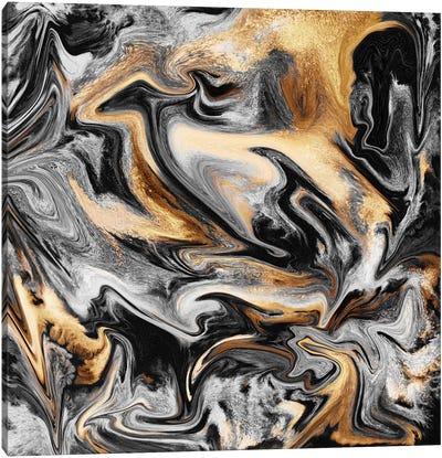 Gold Veins Canvas Art Print