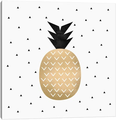 Golden Pineapple Canvas Art Print