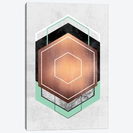 Hexagon Abstract I Canvas Print #ELF58} by Elisabeth Fredriksson Canvas Wall Art