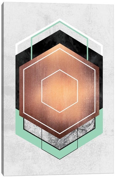 Hexagon Abstract I Canvas Art Print