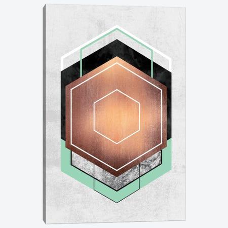Hexagon Abstract I Canvas Print #ELF58} by Elisabeth Fredriksson Canvas Wall Art