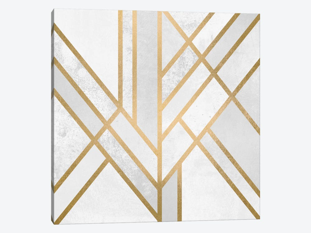Art Deco Geometry II 1-piece Canvas Art