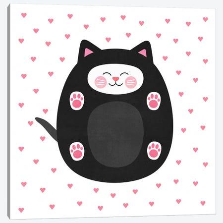 Kitten Love Canvas Print #ELF60} by Elisabeth Fredriksson Art Print