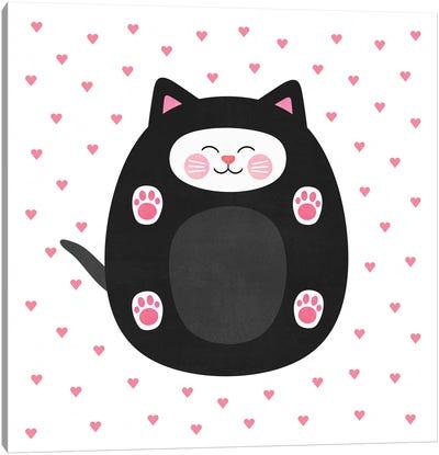 Kitten Love Canvas Art Print