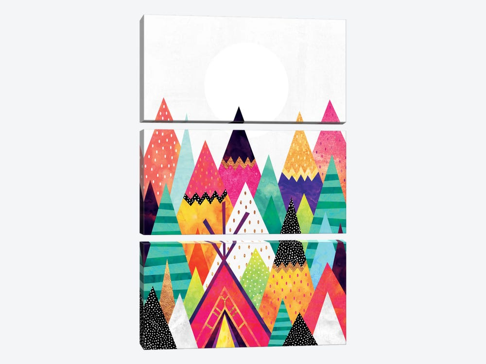 Land Of Color by Elisabeth Fredriksson 3-piece Canvas Wall Art