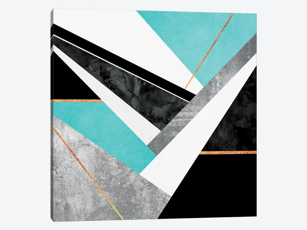 Lines And Layers II 1-piece Canvas Art