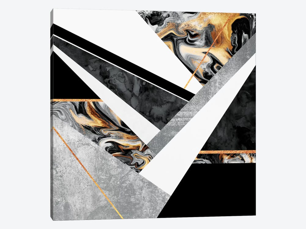 Lines And Layers III by Elisabeth Fredriksson 1-piece Canvas Art Print