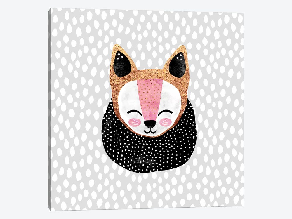 Little Arctic Fox by Elisabeth Fredriksson 1-piece Canvas Artwork