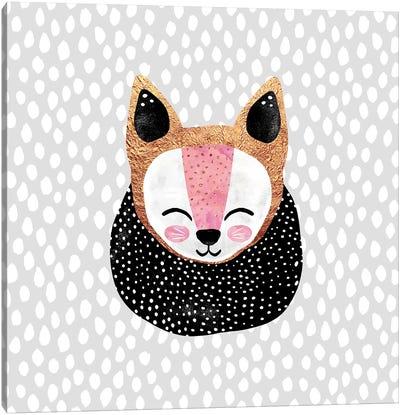 Little Arctic Fox Canvas Art Print