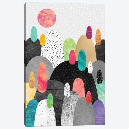 Little Land Of Pebbles 3-Piece Canvas #ELF68} by Elisabeth Fredriksson Canvas Art Print