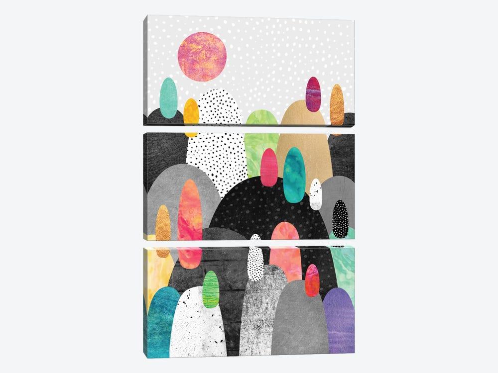 Little Land Of Pebbles by Elisabeth Fredriksson 3-piece Canvas Print