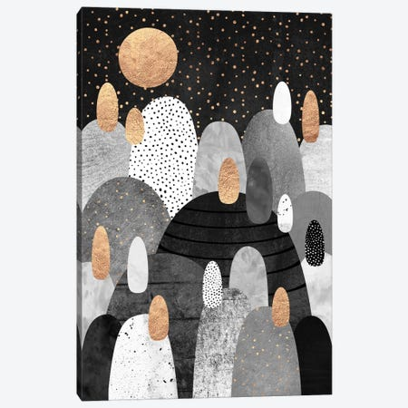 Little Land Of Pebbles By Night Canvas Print #ELF69} by Elisabeth Fredriksson Art Print