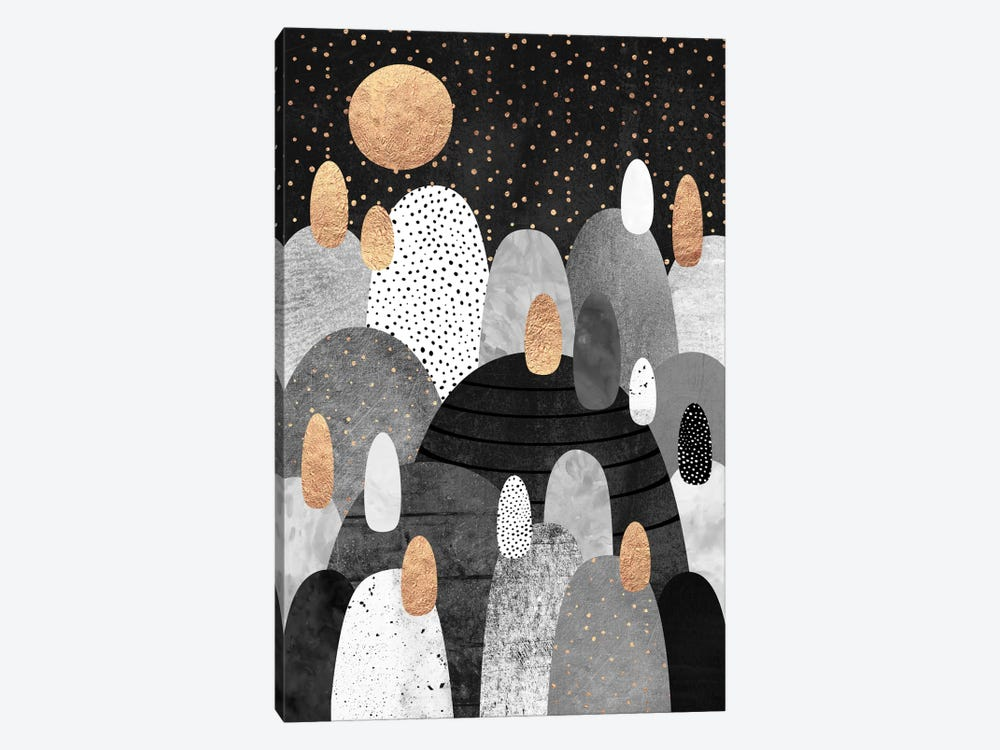 Little Land Of Pebbles By Night by Elisabeth Fredriksson 1-piece Canvas Artwork