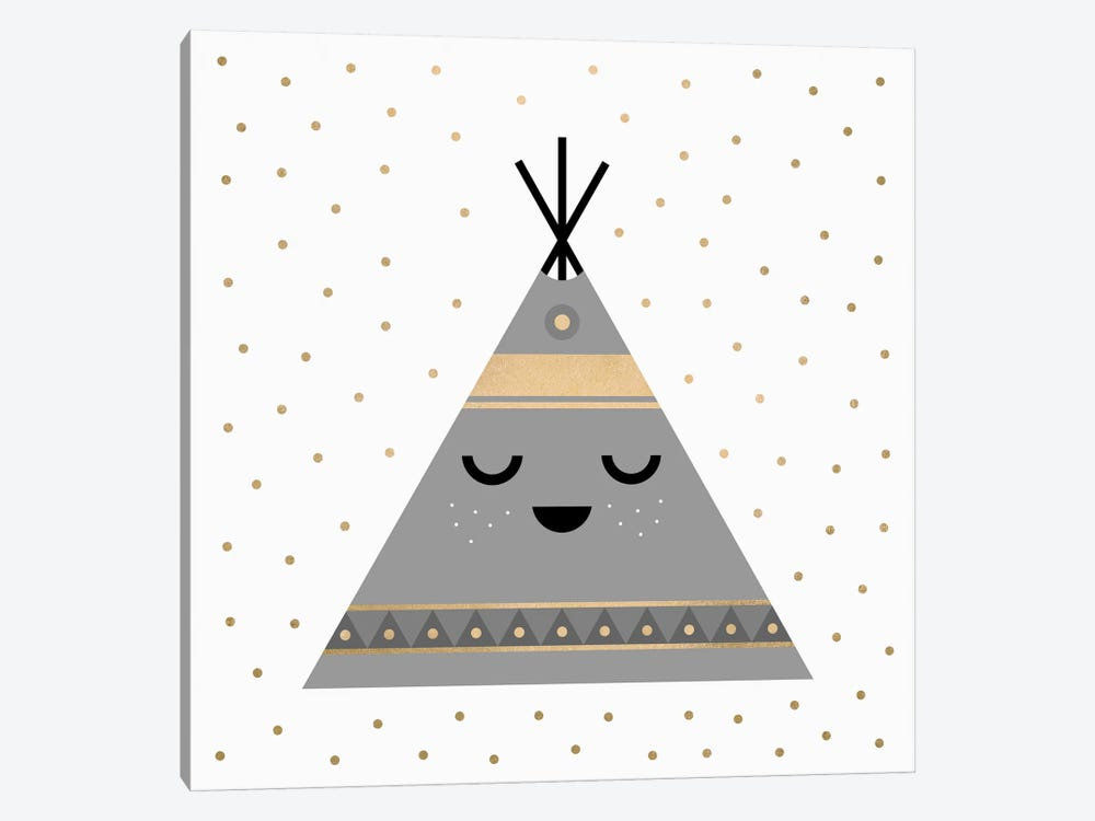 Little Tipi by Elisabeth Fredriksson 1-piece Canvas Art