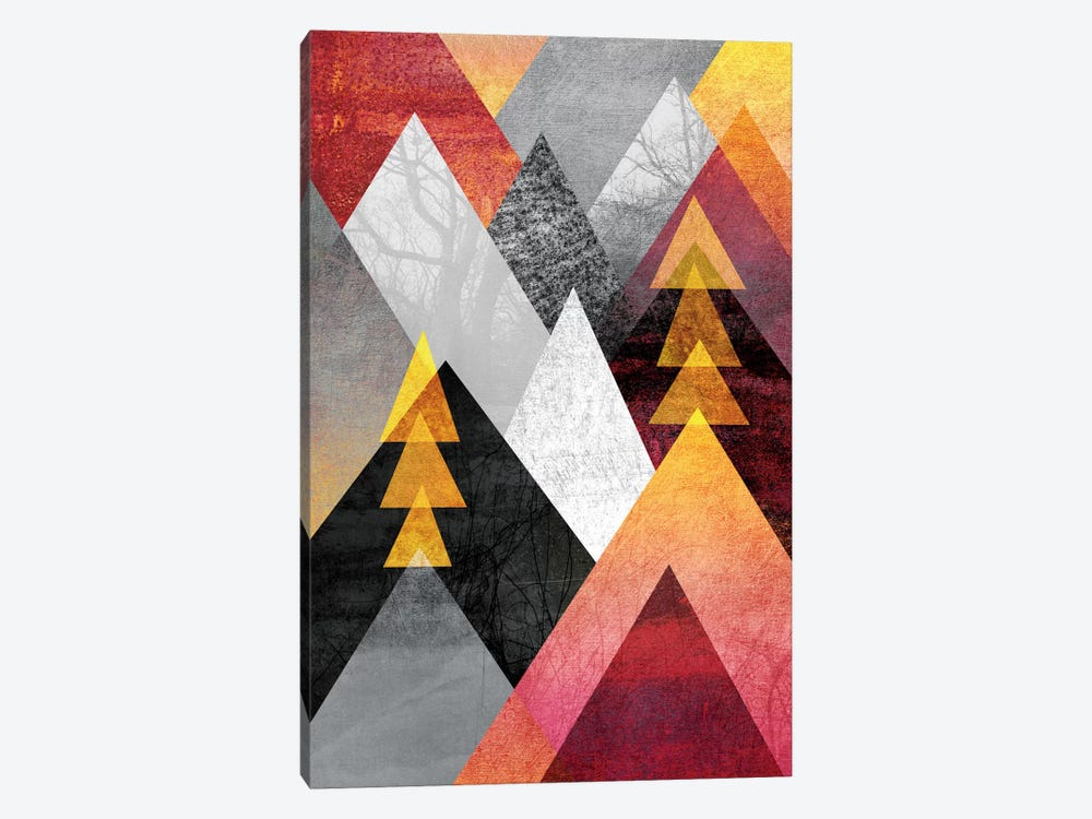 Mountaintops by Elisabeth Fredriksson 1-piece Canvas Art Print