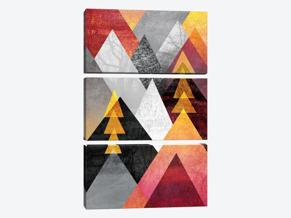 Mountaintops by Elisabeth Fredriksson 3-piece Canvas Art Print