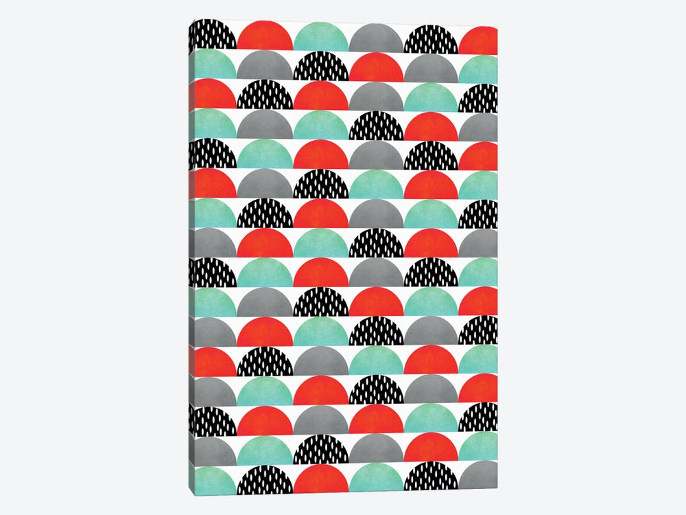 My Favorite Candy (Red And Turquoise) by Elisabeth Fredriksson 1-piece Canvas Print