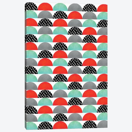 My Favorite Candy (Red And Turquoise) Canvas Print #ELF75} by Elisabeth Fredriksson Canvas Print