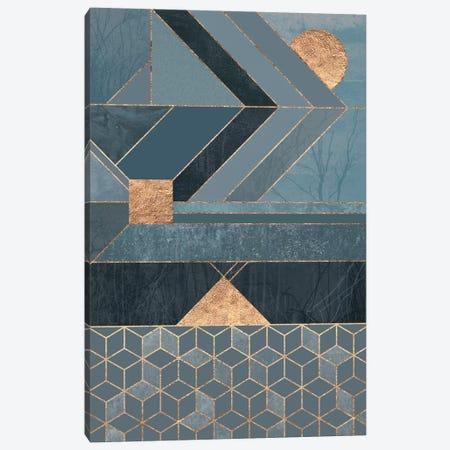 Nordic Blue Canvas Print #ELF78} by Elisabeth Fredriksson Canvas Art