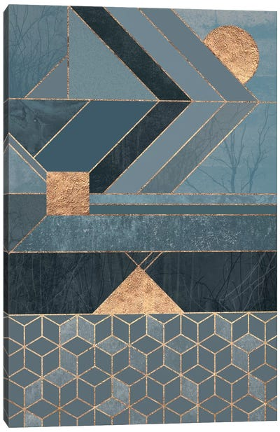 Nordic Blue Canvas Art Print